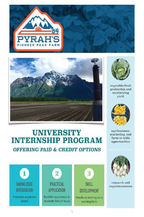 Pyrah's Pioneer Peak Farm flyer